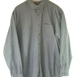 Woolrich Mens 2XL L/S Button Down Gray Flannel
